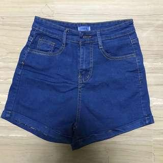 Dark Blue High Waisted Shorts
