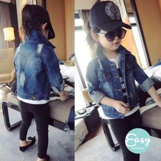 Kids Girls Trendy Fashion Denim Jeans Jacket