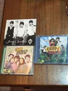 2x Camp Rock + 1x Jonas Brothers Music CDs