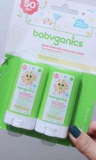 Babyganics Pure mineral sunscreen stick Spf50