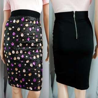 Beaded Pencil Skirt
