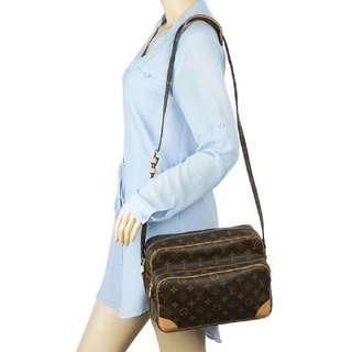 Authentic Vintage Louis Vuitton Nile Crossbody Bag Monogram Leather