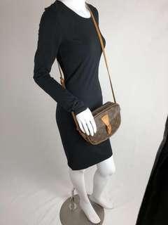 Authentic Vintage Louis Vuitton Jeune Fille Crossbody Bag Monogram Leather PM