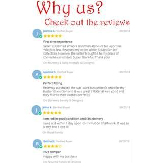 Why us!? Check our reviews!