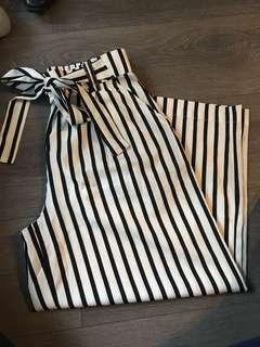 Zara cropped pant with tie