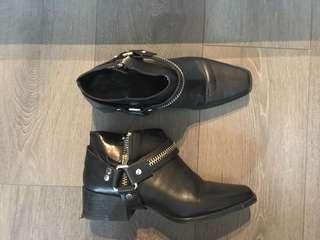 Zara real leather boot, size 9