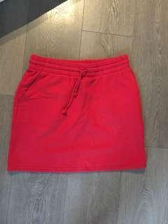 Aritzia- TNA sweat fleece skirt, Size M