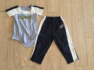 Purdue Boilermakers Football Pajama Set