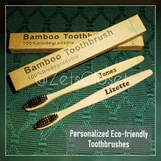 Personalized Bamboo Toothbrushes