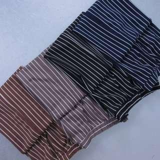Maxi Stripe Cullote Scuba