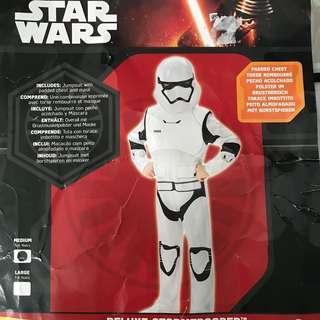Star wars costume storm trooper 5-6yo
