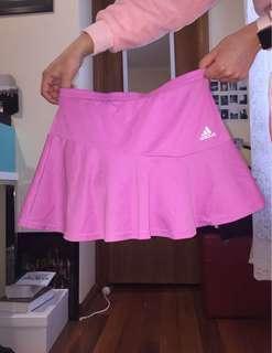 baby pink adidas tennis skirt