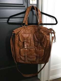 Brown pleather mossimo bag