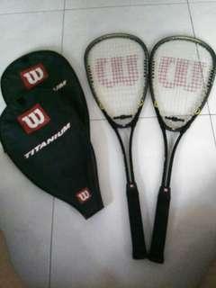 Squash Rackets - A Pair