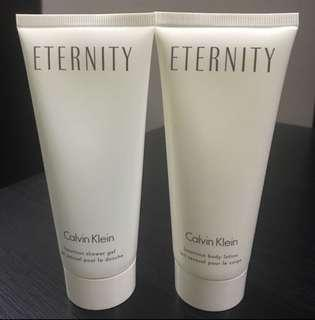 calvin Klein Eternity Body wash and nody lotion