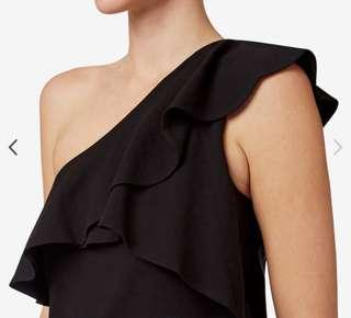 Seed One Shoulder Frilly Top Size XS Brand New