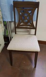 Rubber wood chair 1pc
