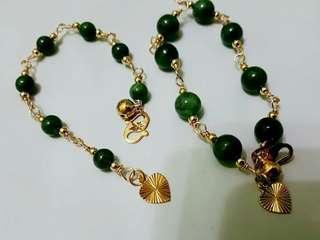 Handmad jade bracelets ikat suasa #GayaRaya