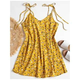 Zaful Tiny Floral Cami Dress