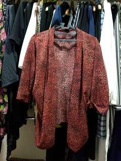 Leopard printed cardigan
