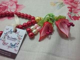 Tasbih Pita Handmade (Praying Beads Handmade) - Red
