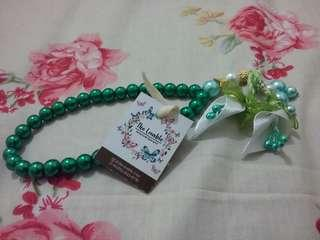 Tasbih Pita Handmade (Ribbon Praying Beads Handmade) - Green