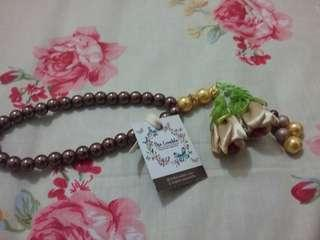 Tasbih Pita Handmade (Ribbon Praying Beads Handmade) - Brown