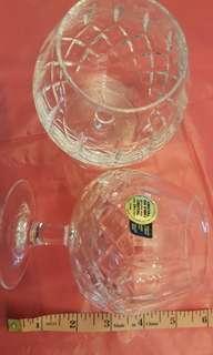 Set of 2 Crystal Brandy Glasses