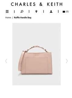 Ruffle Handle Bag