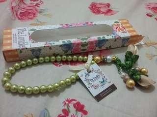Tasbih Pita Handmade (Ribbon Praying Beads Handmade) - Olive Green