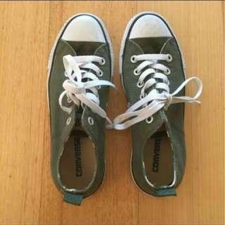 Army Green Converse ALL STAR 'Connies'