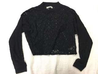 Pull and Bear Cropped Lace top