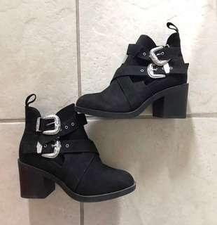 Topshop cut out booties