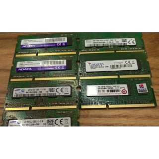 筆電記憶體 4G DDR3L 1600