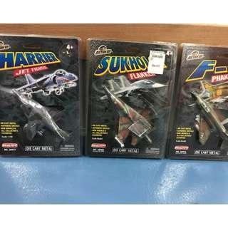 Action City 1:100 Diecast Metal - Sukhoi 34 Flanker / Harrier / F4 Phantom