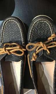 Navy Anchor Print Sperrys Size 8.5