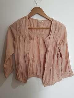 Jaket ringan etcetera warna peach muda