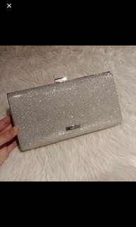 Aldo Silver clutch bag