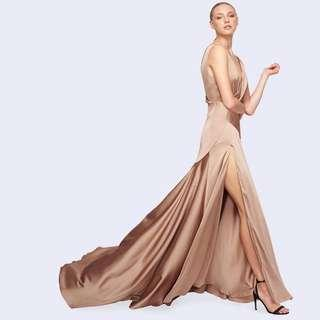 BNWT FAME & PARTNERS NUDE ESCALA DRESS - SIZE 10