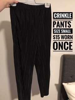 Crinkle pants