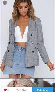 Beginning boutique check blazer