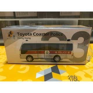 Tiny 微影 03 (已開) 第二版 Toyota Coaster Police 豐田 警車 警察 風火輪