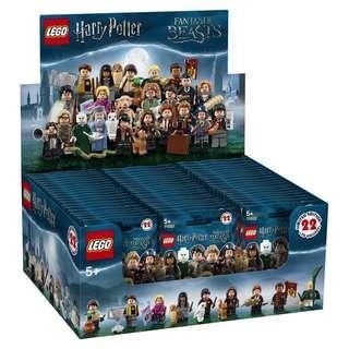 Lego harry potter minifigure 71022 連啡盒 60包