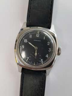 Rare Czech Military Longines Majetek Spravy Tartarugone large wrist watch 1940's