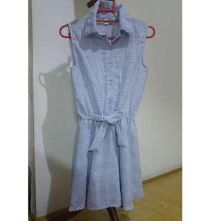 🚚 夏日風藍色無袖裙