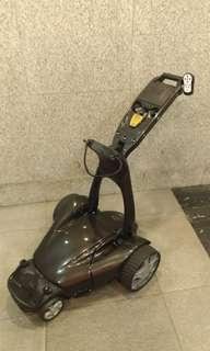 UK made electric golf trolley FOLLOW ME by Stewart Golf w lithium battery
