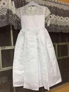 White Dress Classy and Elegant