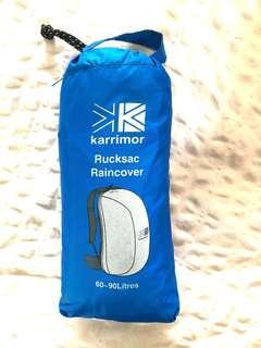 Preloved Karrimor backpack raincover in blue