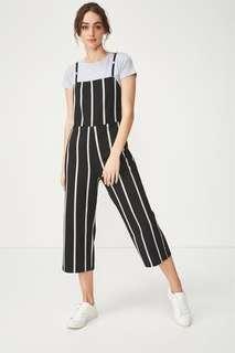 Cotton On Striped Jumpsuit