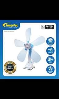 PowerPac Electric Clip Fan with Silent Motor